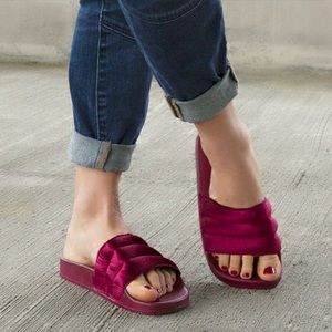 Women's Velvety Soft Puffer Slides